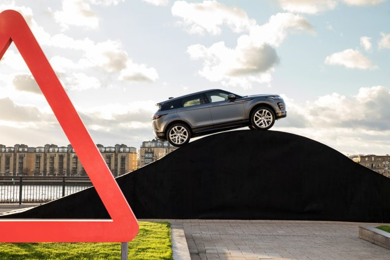 New Range Rover Evoque recreates iconic road signs to showcase all-terrain capability and smart tech