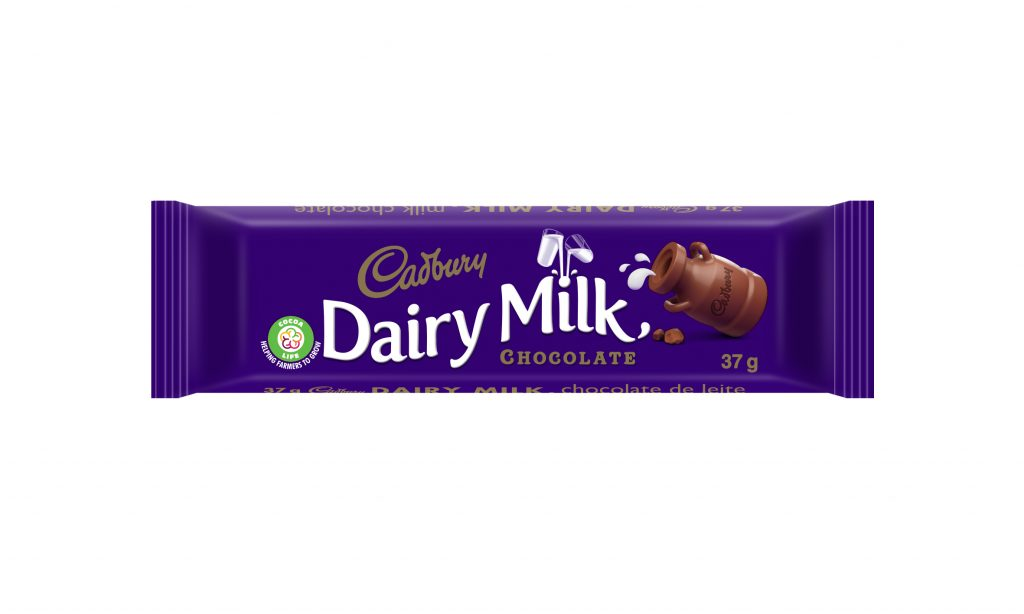 Cudbary Dairy Milk with the Cocoa Life logo