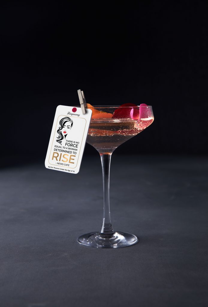 News Cafe Cocktail - Rose among the  thorns