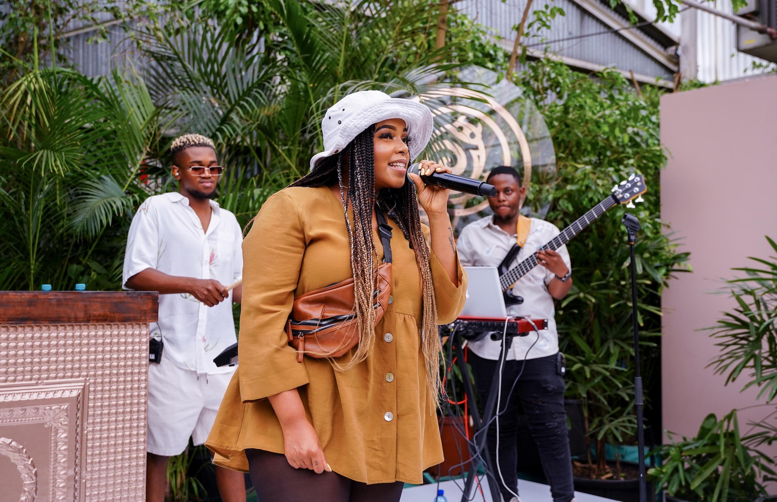Shekinah performing at Brutal Fruit event
