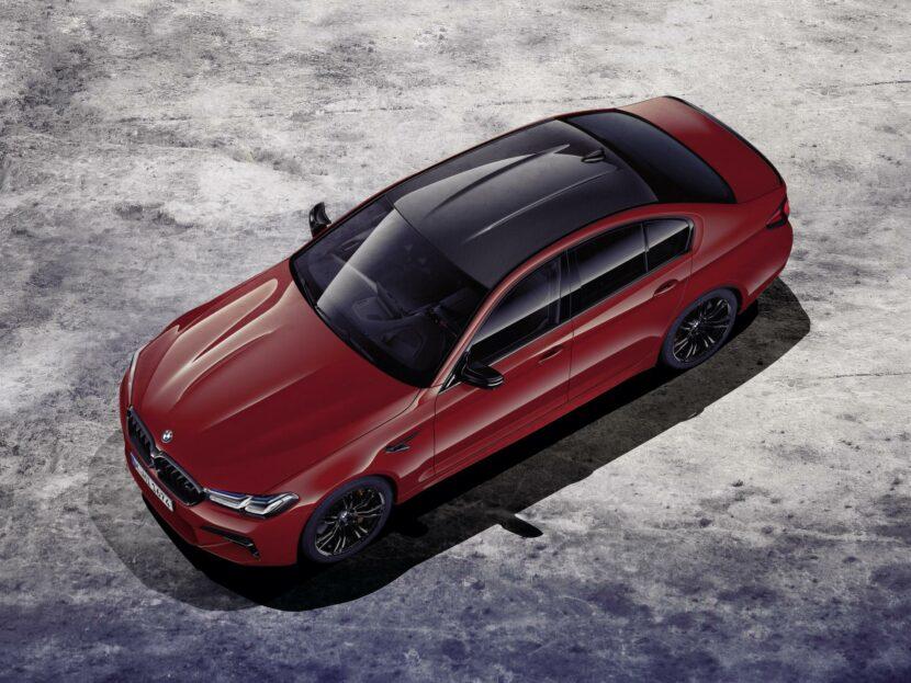 2021 BMW M5 top view