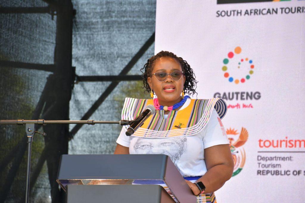 SA Minister of Tourism, Mmamoloko Kubayi-Ngubane.