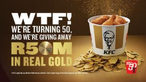 KFC celebrates 50 Golden Years in Mzansi with a hunt for R50 Million in REAL GOLD.