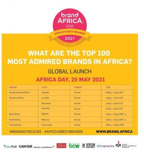 Brand Africa is to unveil the 2021 Top 100 brands in Africa