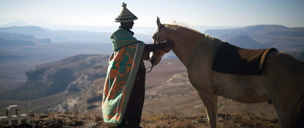 Sesotho man and horse